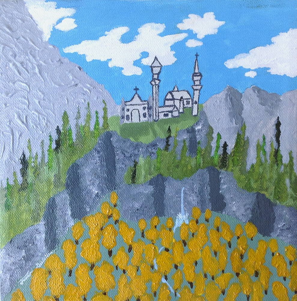 Title: Neuschwanstein Castle in the Fall