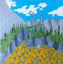 Title: Neuschwanstein Castle in the Fall
