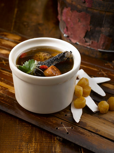 Double Boiled Dried Scallop with Black Chicken Soup