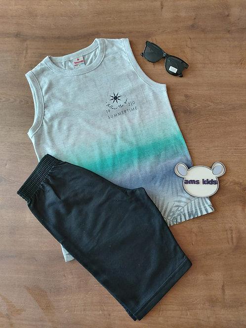Conjunto camiseta regata e bermuda