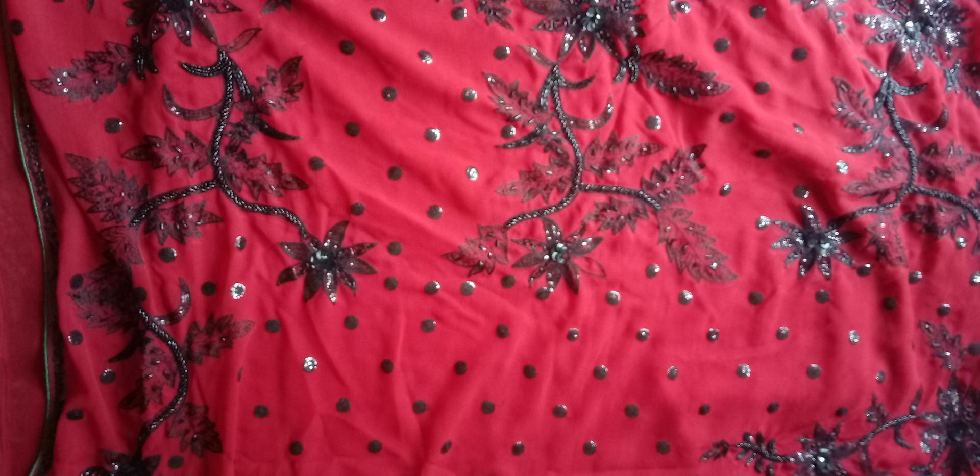 Red Georgette Saree