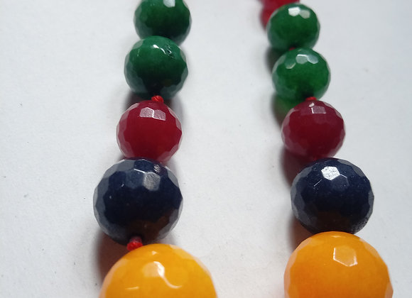 Colourful Natural stone bead necklace