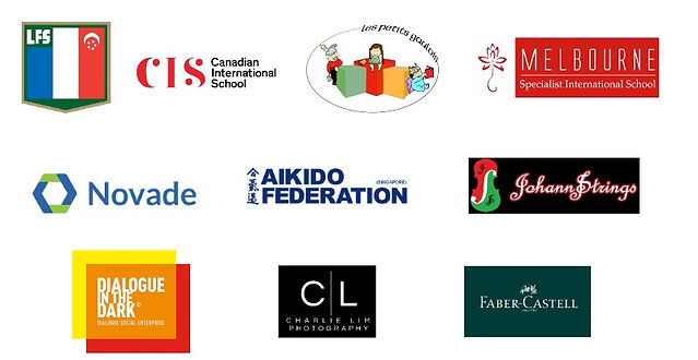 Play2se partners & client. LFS, CIS, Les Petit Gaulois, Aikido, Novade, Cahrie LIme, Faber Castell, Dialogue in the dark, Johann Strings