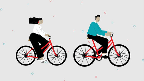 Cycling Characters Design
