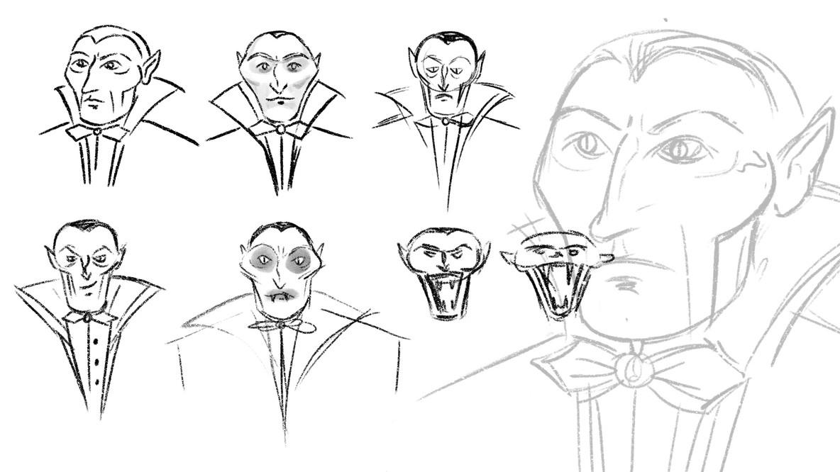 Dracula Character Sketch