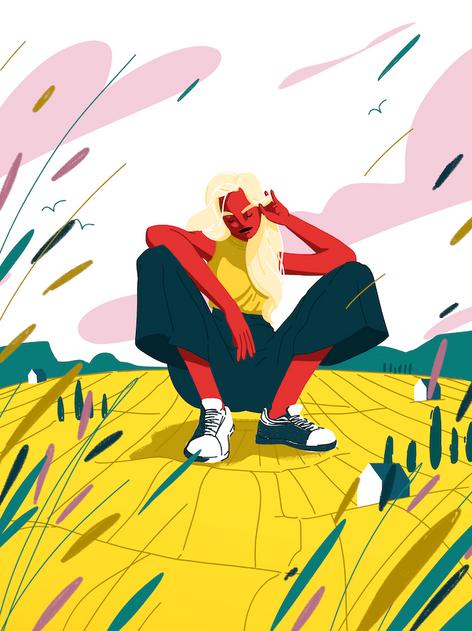 Giant in a field