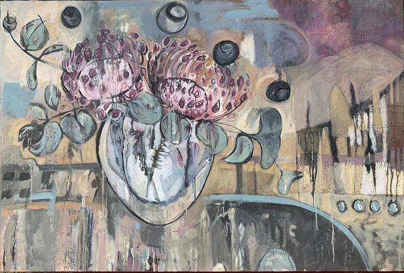 L.458. Landscape dominated by pincushion protea