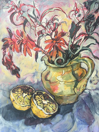L443. Lemons and winter flowers