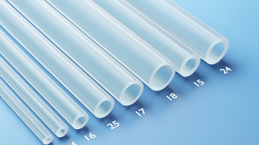 PeriFlex Platinum-cured Silicone Tubing, 25 ft
