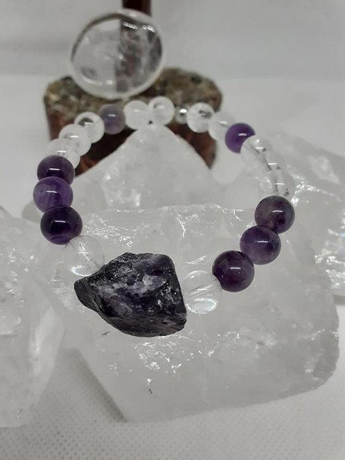 Bracelet Cristal de Roche Améthyste