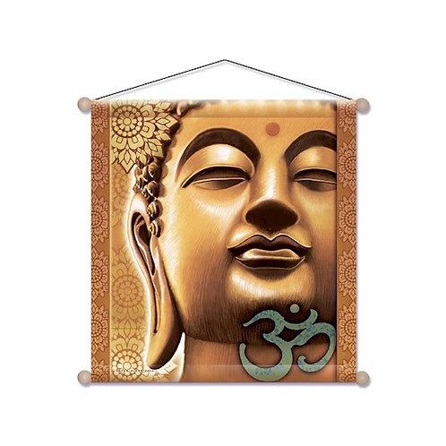 Bannière de Méditation Boudha d'Or