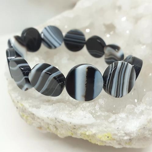 Bracelet Agate Palets