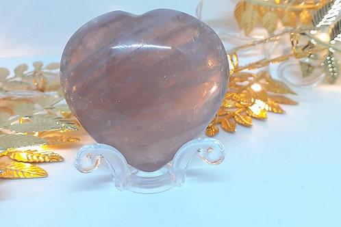 Coeur en Quartz Rose de Qualité Extra