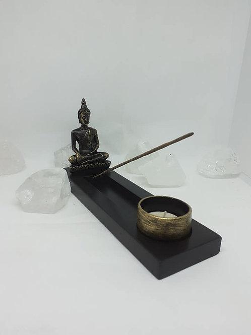 Statue Bouddha Thaï longue porte encens
