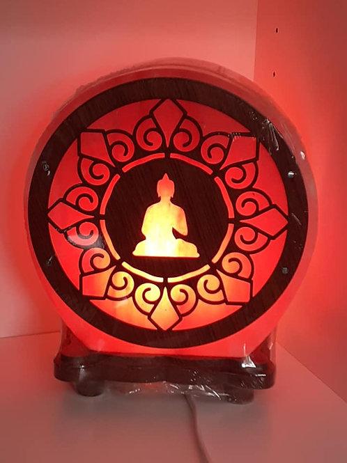 Lampe de Sel Himalaya motif Bouddha en Méditation