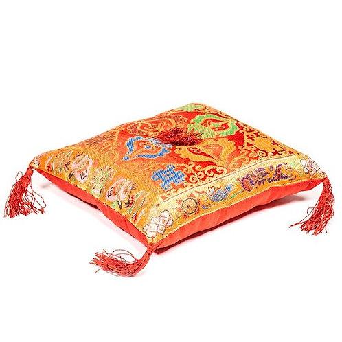 Coussin rouge pour bol chantant Tibétain