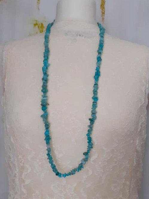 Collier sautoir / Bracelet 4 rangs Baroque Amazonite Naturelle