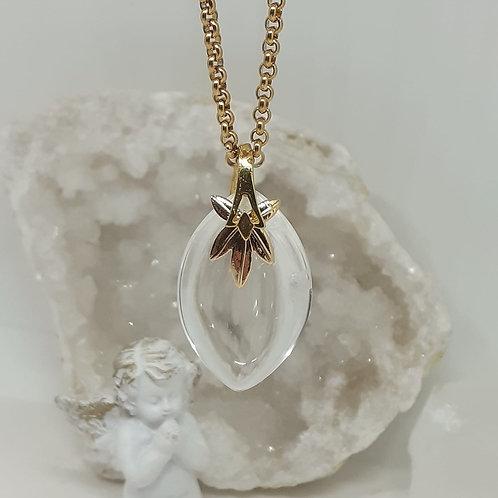 Collier Cristal de Roche Extra Marquise