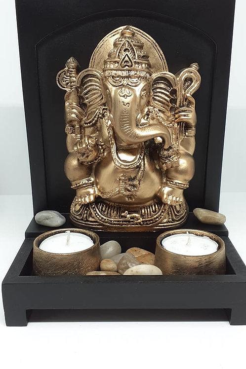 Tableau Ganesh deux portes bougies