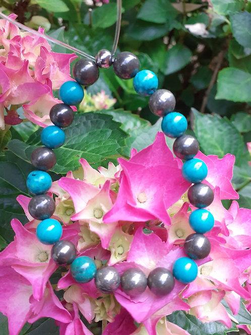 Bracelet Turquoise et Pyrite extras