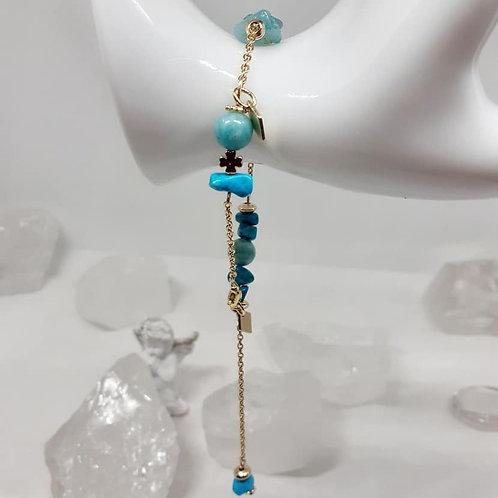 Bracelet Tendance d'Eté Turquoise Amazonite