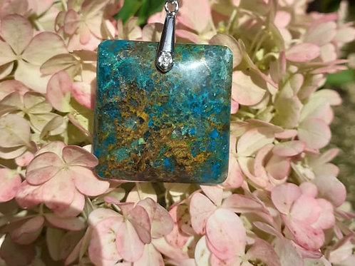Collier Pendentif Chrysocolle