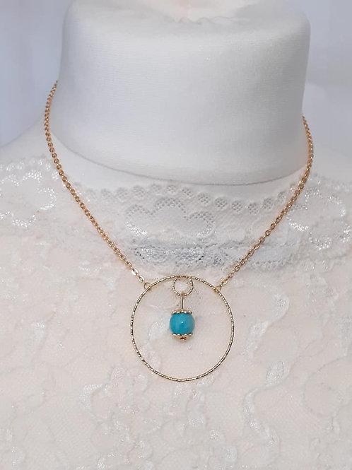 Collier perle Amazonite Extra