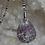 Thumbnail: Collier pendentif Tourmaline marbrée extra forme goutte