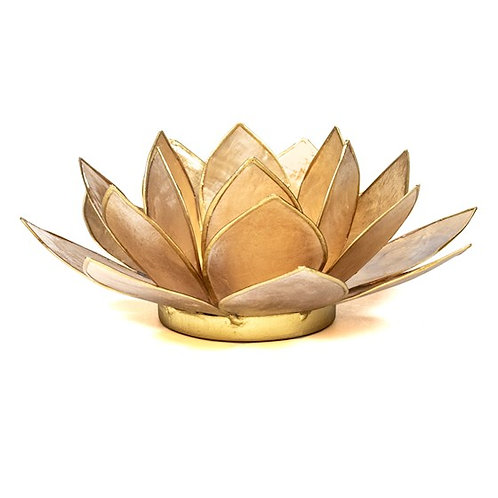 Eclairage d'Ambiance Lotus beige fumé