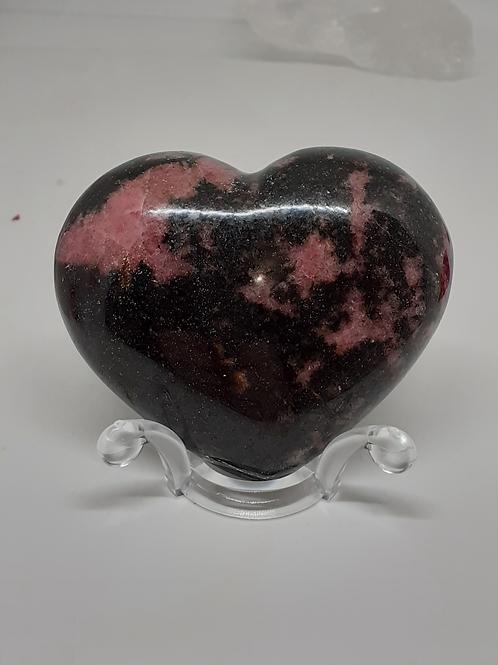 Coeur Rhodonite Extra décoratif  250g