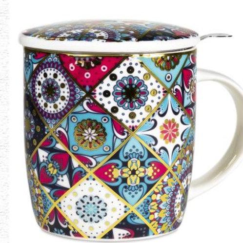 Coffret Mug Infuseur à Thé motifs Oriental
