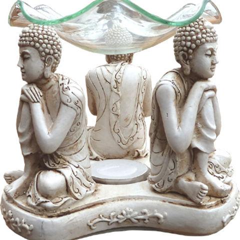 Brûleur d'huile Céramique - 3 Bouddhas Penseurs