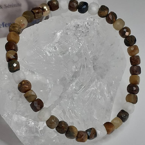 Bracelet Pietersite extra carrée