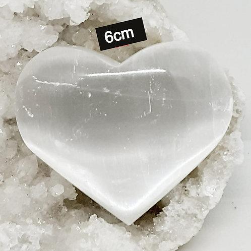 Coeur en Sélénite Qualité Extra