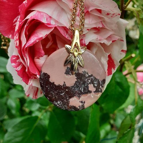 Collier pendentif Jaspe Porcelaine