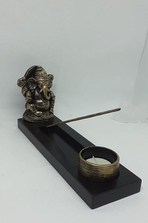 Statue Ganesh longue porte encens