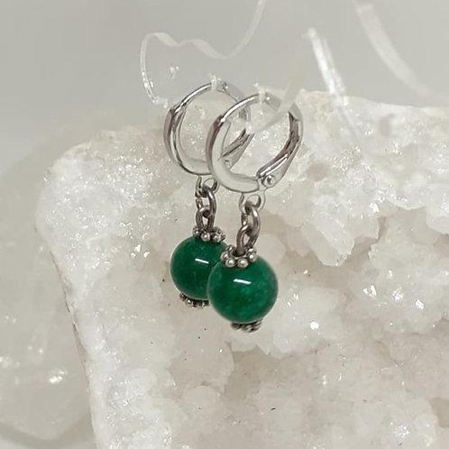 Créoles pendentifs Jade extra