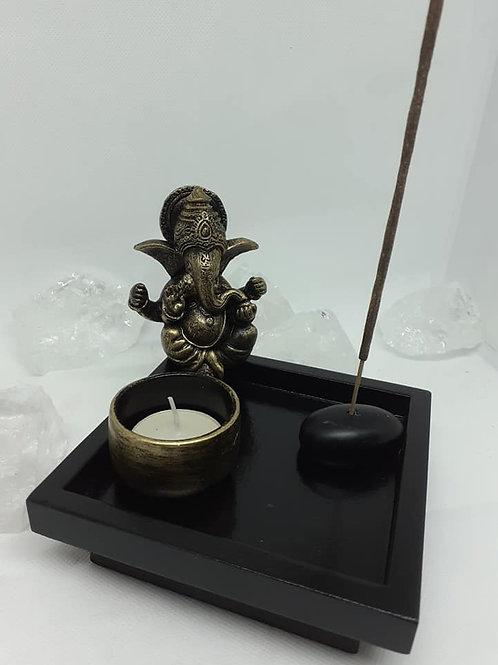 Statue Ganesh porte bougie porte encens