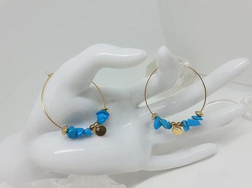 Créoles Turquoise