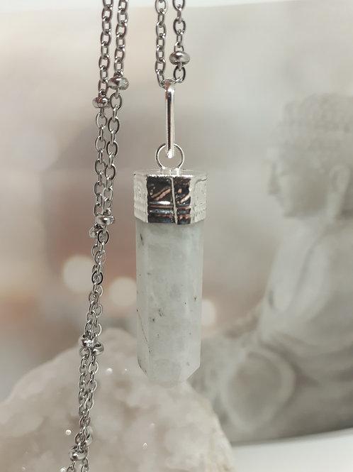 Collier pendentif pointe Pierre de Lune