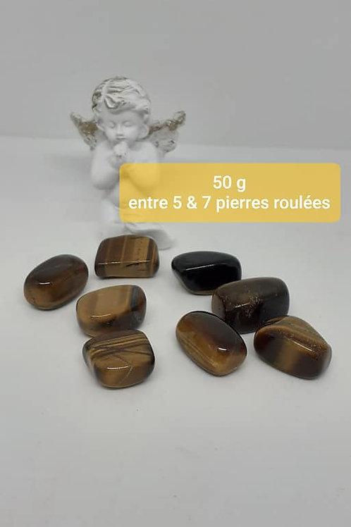 Pierres roulées Oeil de Tigre Qualité Extra Sachet 50g