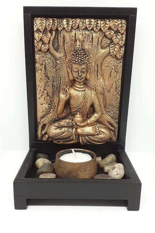 Tableau Bouddha de la bénédiction porte bougie