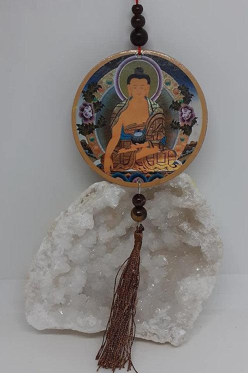 Suspension Bouddha pour Porte / Rétroviseur avec motifs recto / verso