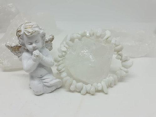 2 Bracelet Baroque Quartz Blanc Extra