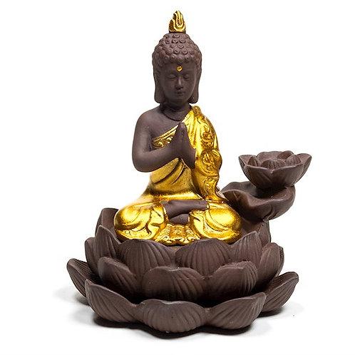 Brûleur d'encens à refoulement avec Bouddha