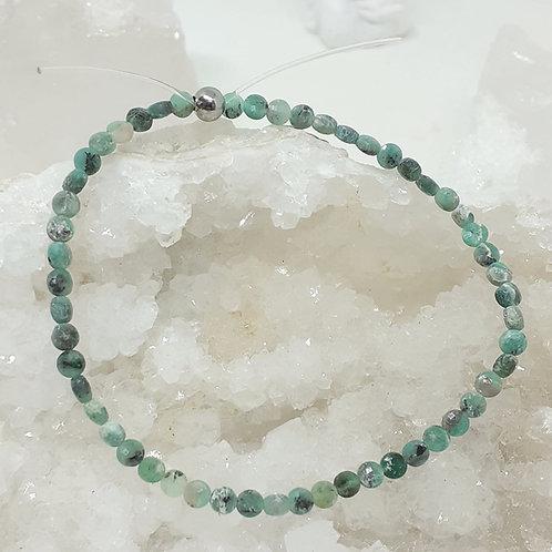 Bracelet Emeraude perles palets