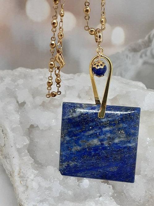 Collier pendentif Lapis Lazuli extra