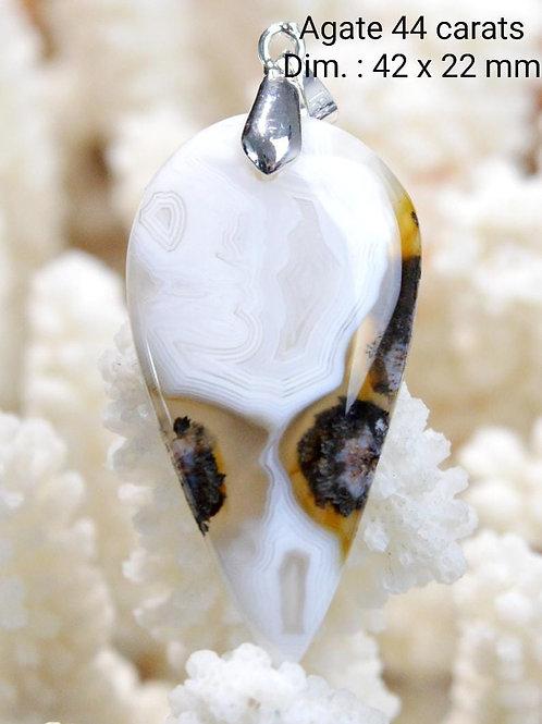 Collier pendentif Agate paysage