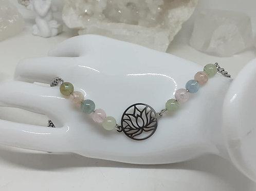 Bracelet Morganite Fleur de Lotus
