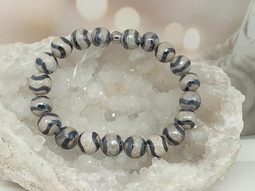 Bracelet Agate Tibétaine